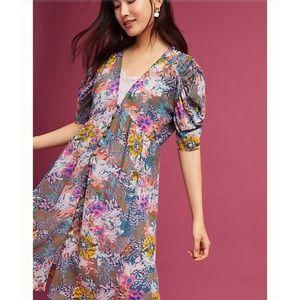 Anthro Akemi + Kin Valencia Sheer Floral Dress M